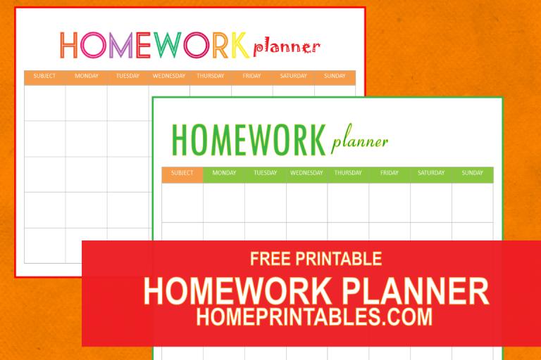 Easy homework planner