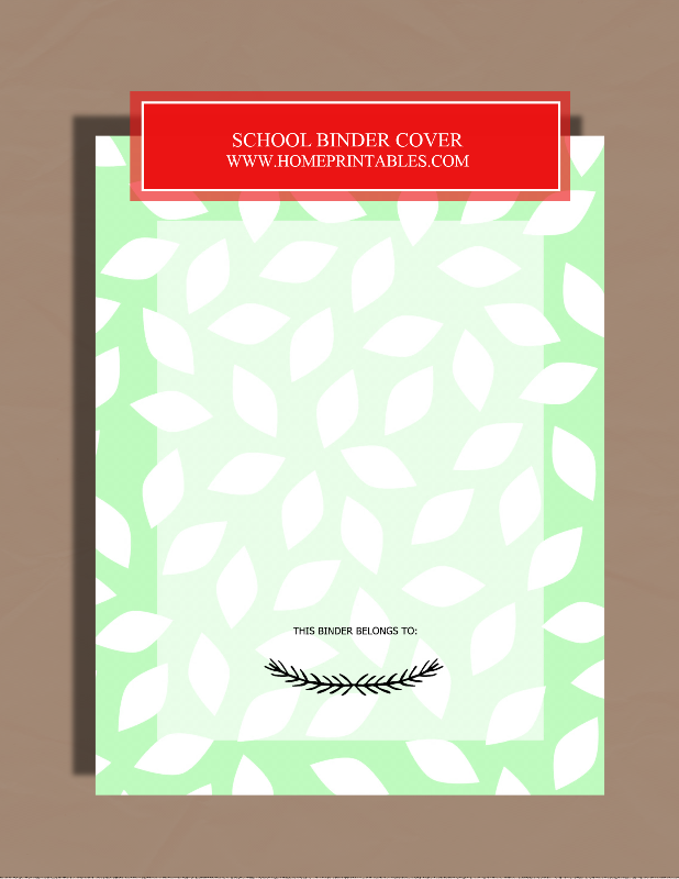 FREE PRINTABLE STUDENT BINDER COVER