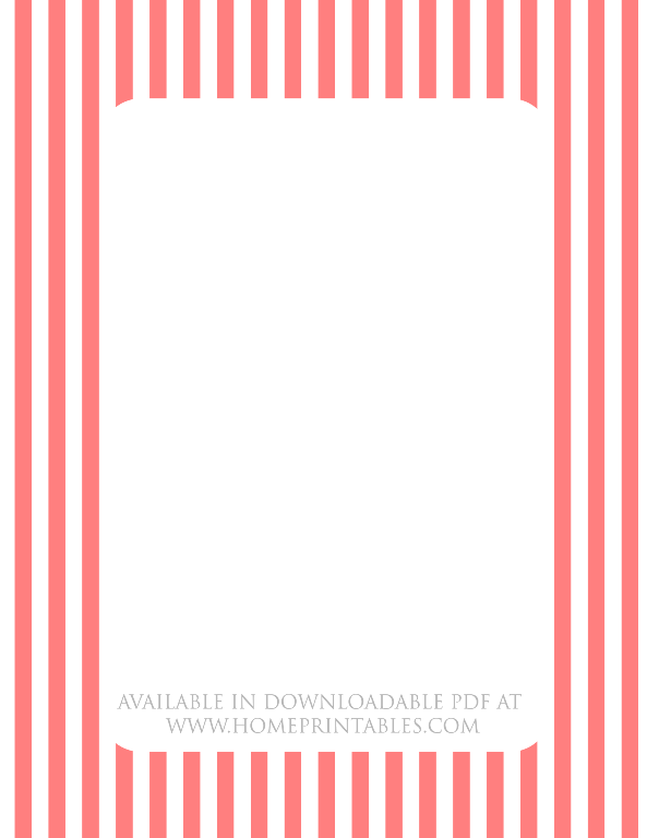free border for printable stationery stripes
