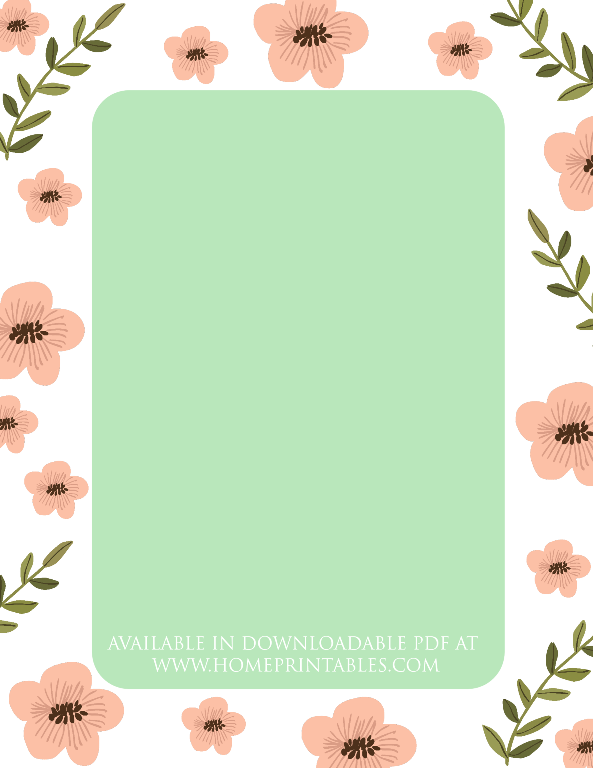 free floral border for stationery