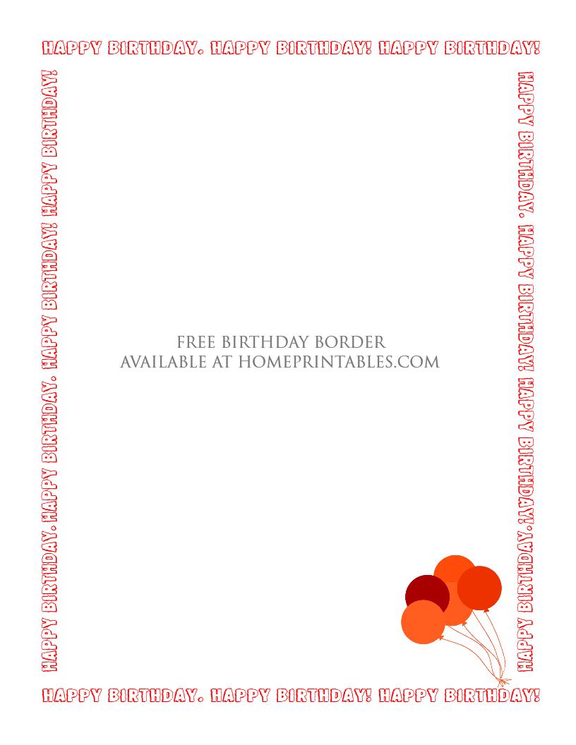free printable birthday border