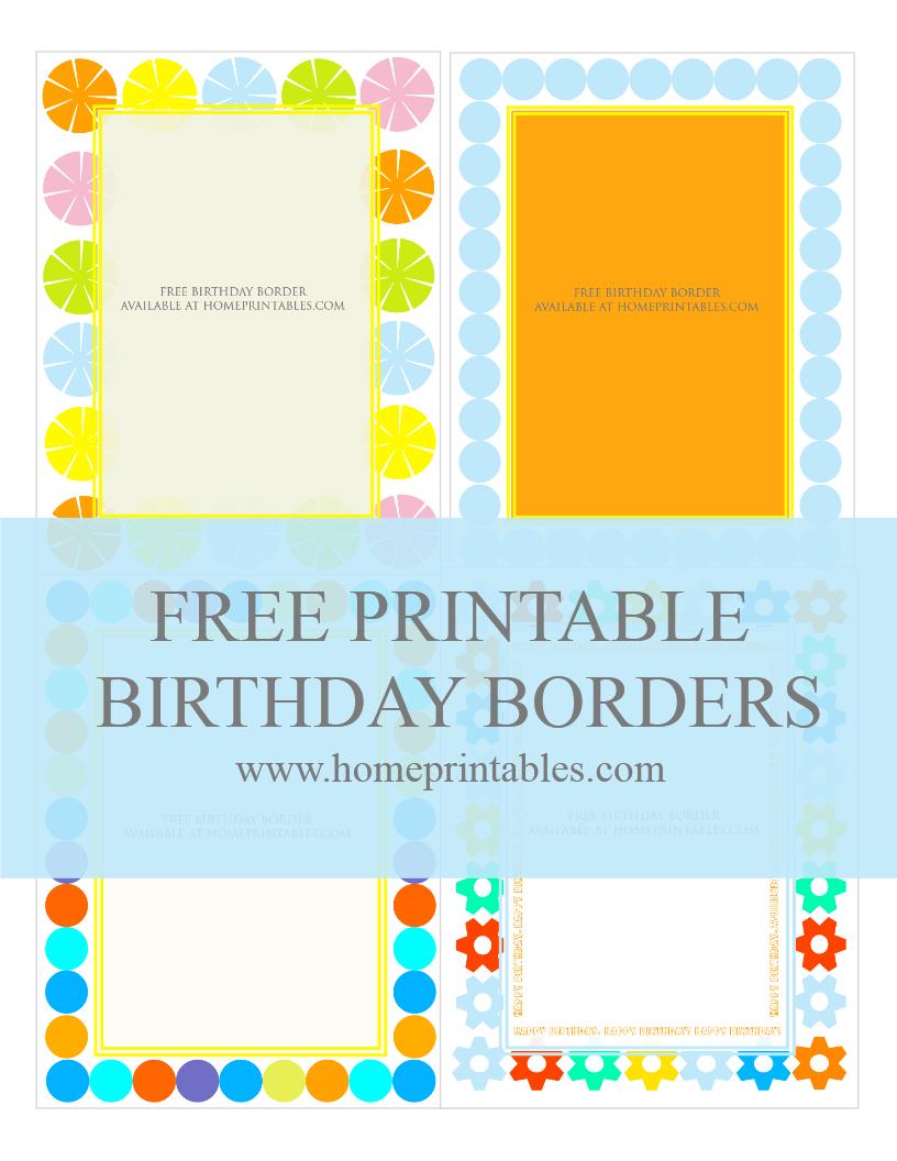 free borders for birthday invitation