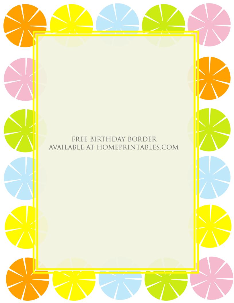 free printable borthday border 3