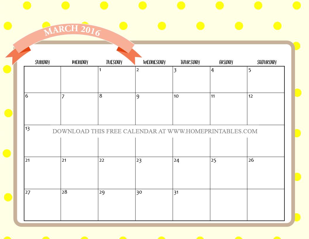 free printable march 2016 calendar 3