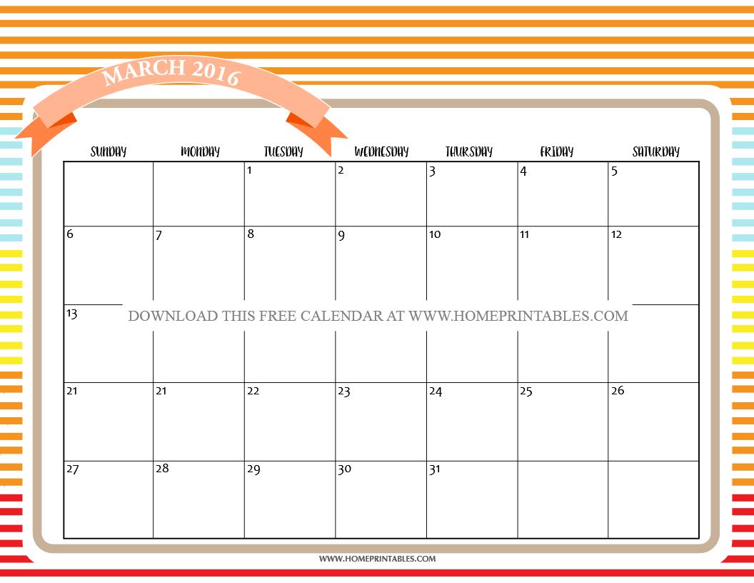 free printable march 2016 calendar 7