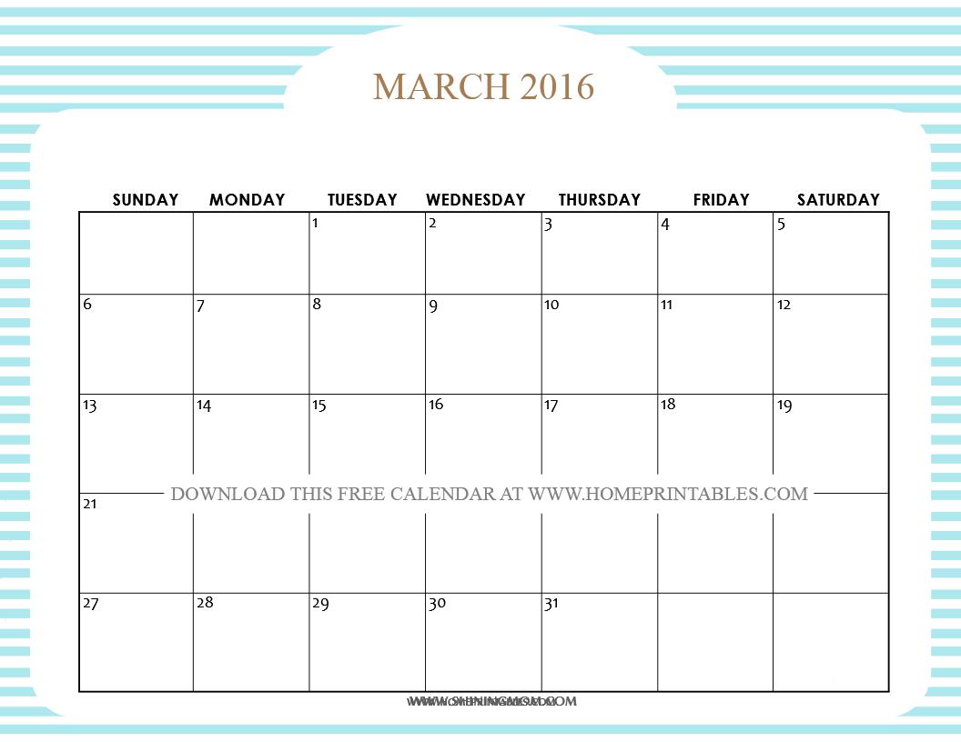 free printable march 2016 calendar 8
