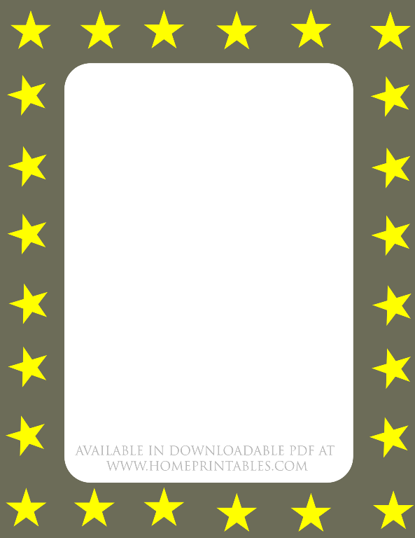 free stars border for printable stationery