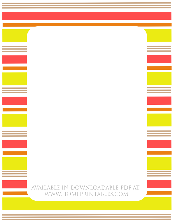 free stationery border