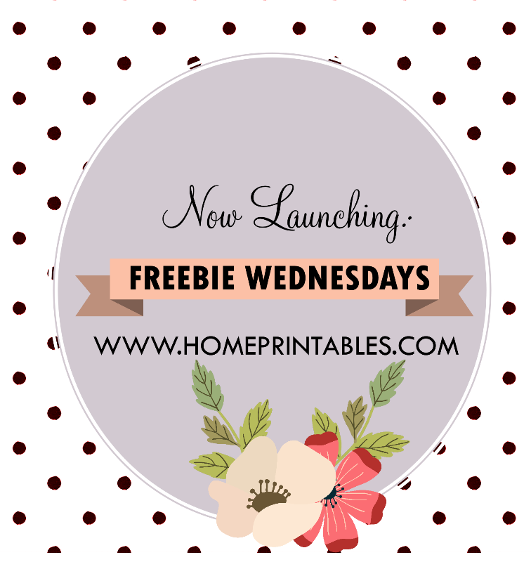 freebie wednesdays home printables blog