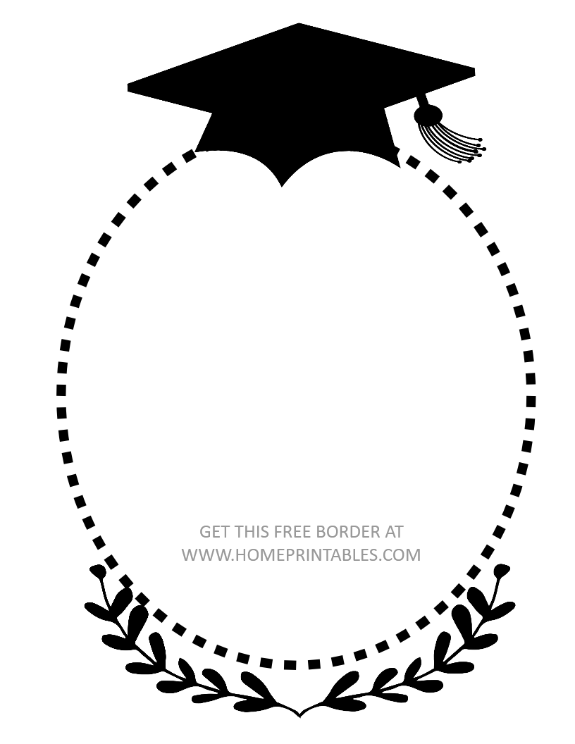 free graduation border 3