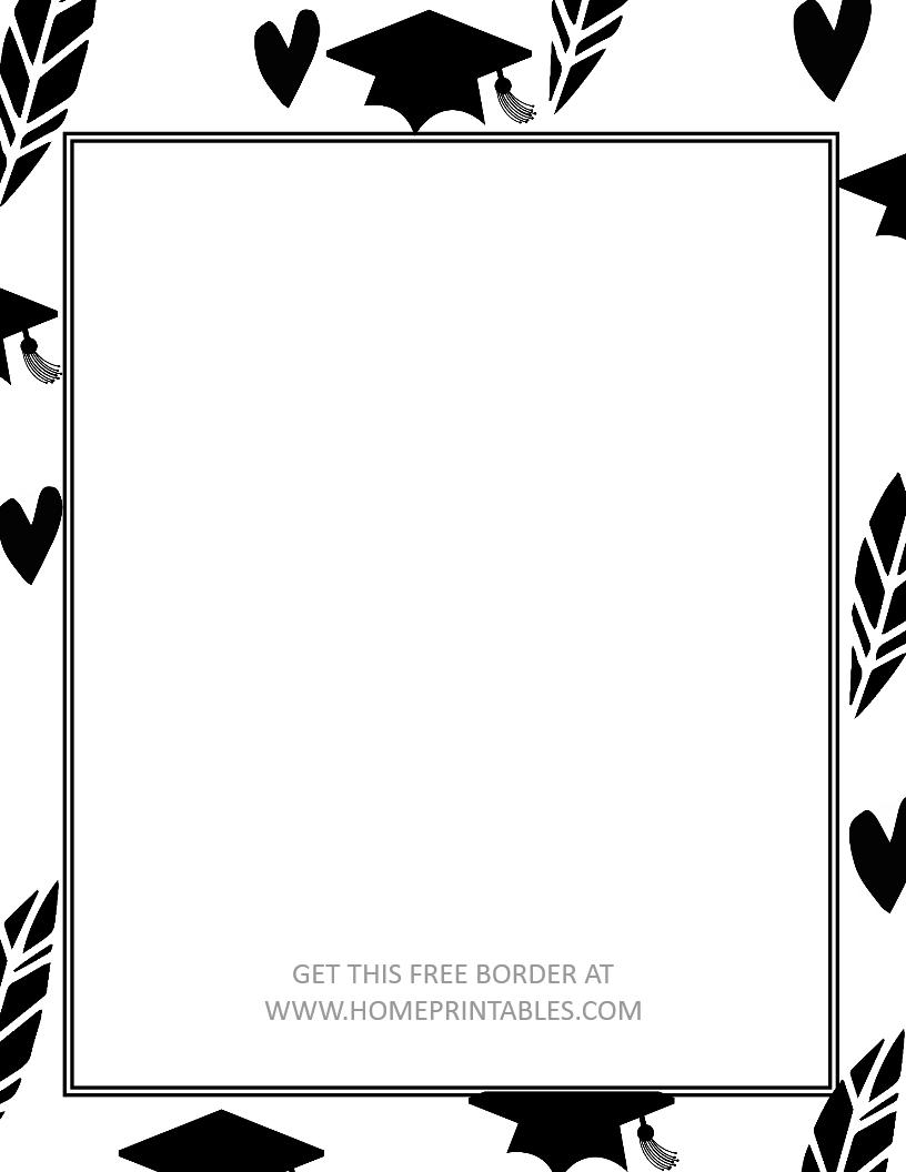 free graduation border 4