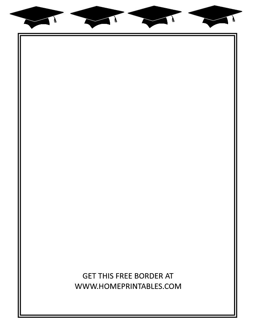 free graduation border 5