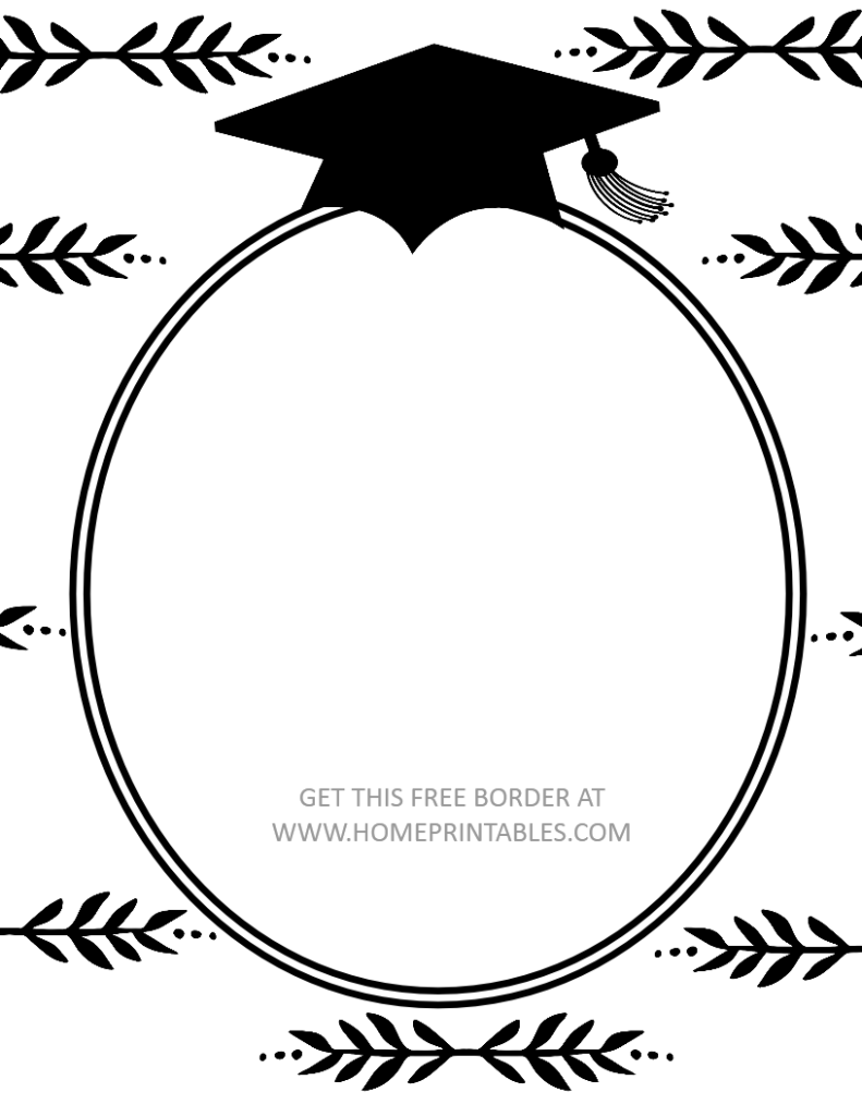 free printable graduation border 1