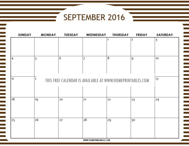 free printable september 2016 calendar planner