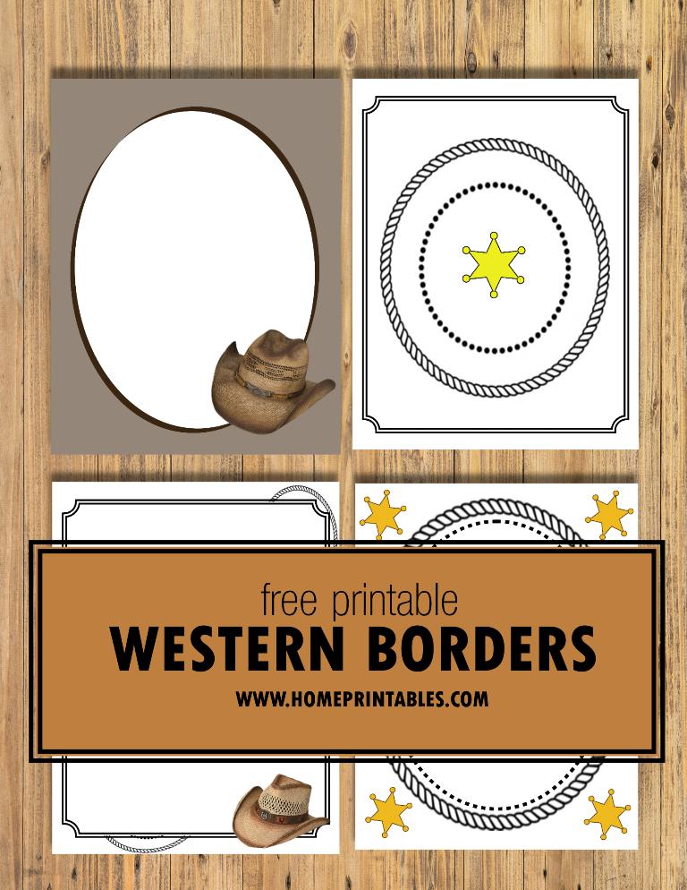 free printable western border