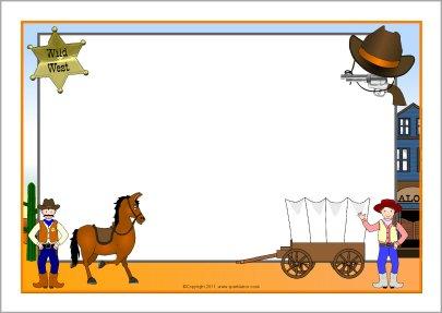 western themed border fun