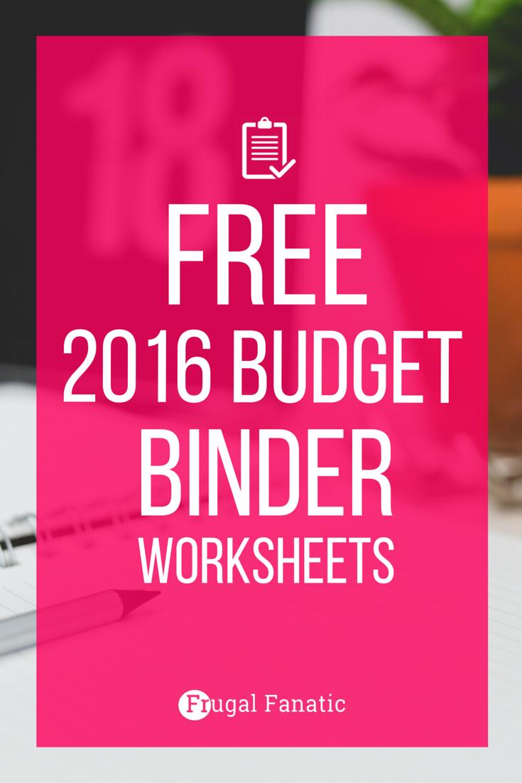 Free 2016 Budget Binder Worksheets Home Printables