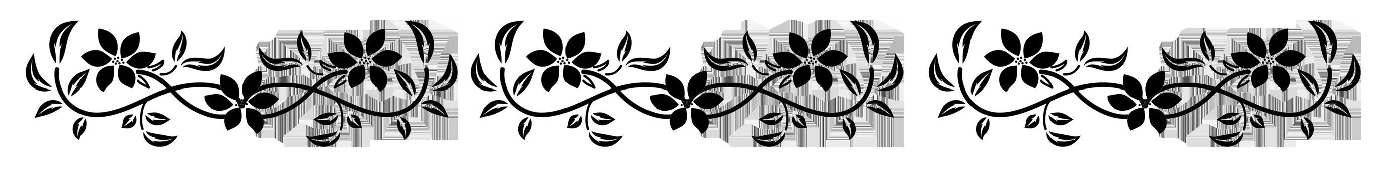 black-and-white-flower-border