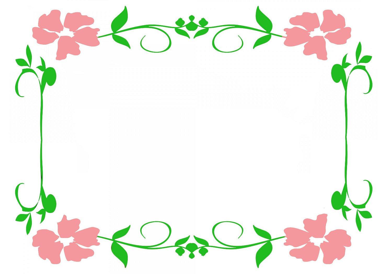 pretty pink border floral - photo #10