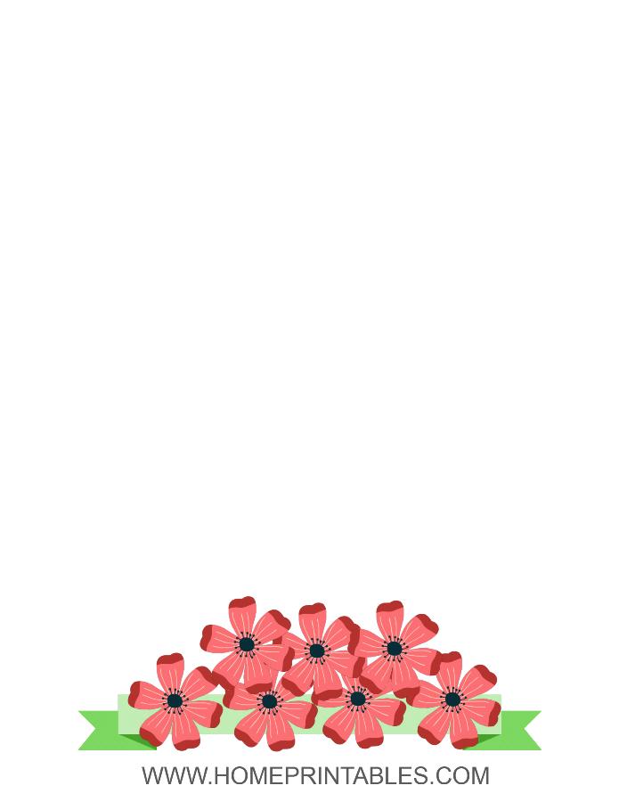 flower border simple