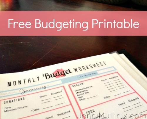 free budget binder cover