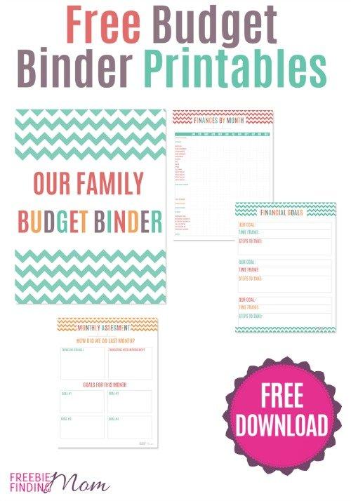 free-budget-binder-printables via freebie mom