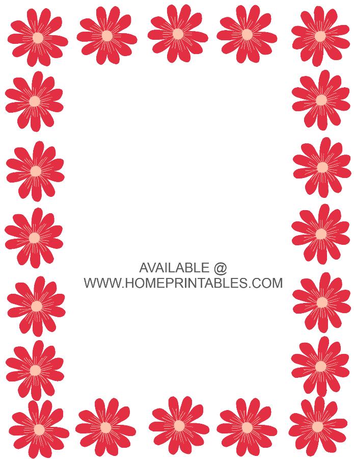 hawaiian flower border