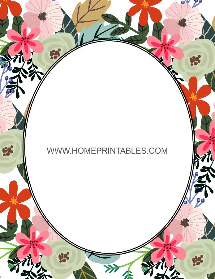 printable free flower border
