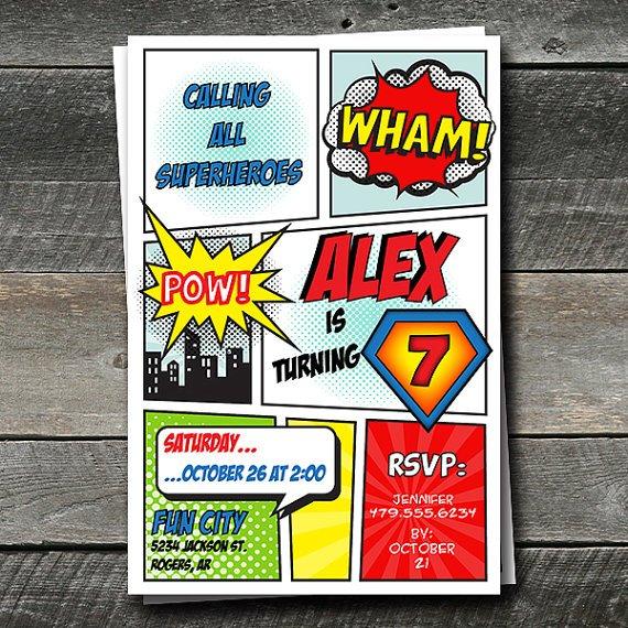 super-hero-invitation-card