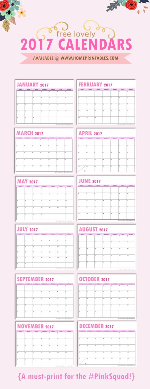 free-2017-calendar-pinterest