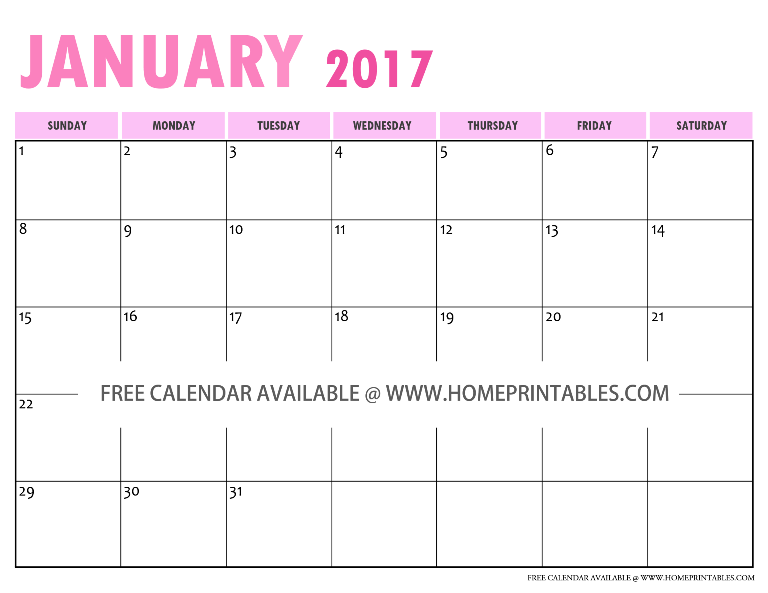 something to love free printable 2017 calendar home printables. Black Bedroom Furniture Sets. Home Design Ideas