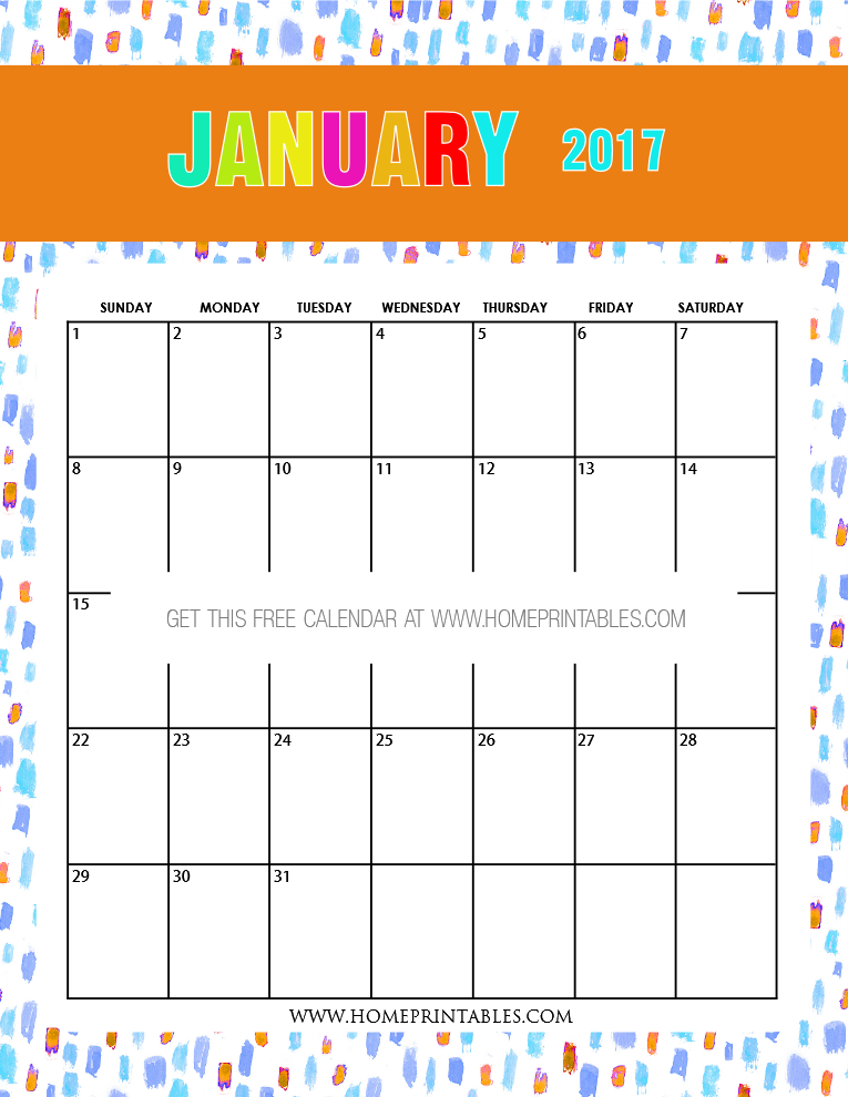 Cute Calendar January 2016 : Free january calendar printable all new designs