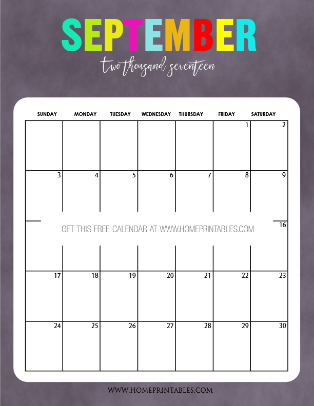 2017 Calendar Printable Bold And Beautiful Home