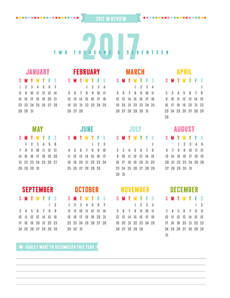 2 17 year in review calendar home printables