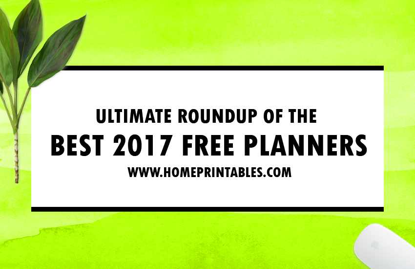 Best 2017 Free Planner Printables: Ultimate Guide!