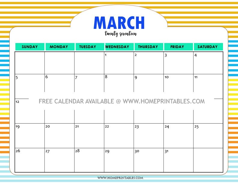 cute-free-printable-march-2017-calendar