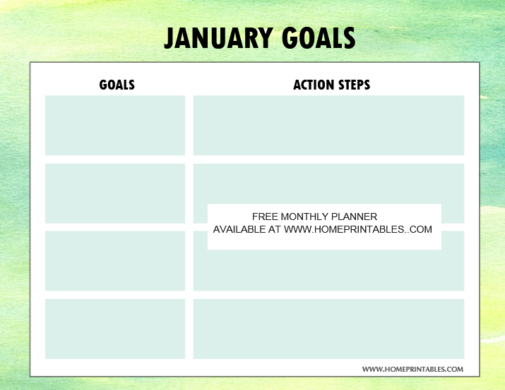 free printable New Year planner