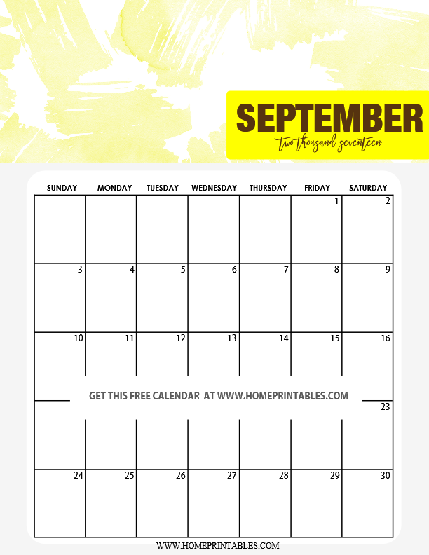 Cute 2017 Calendar Printable