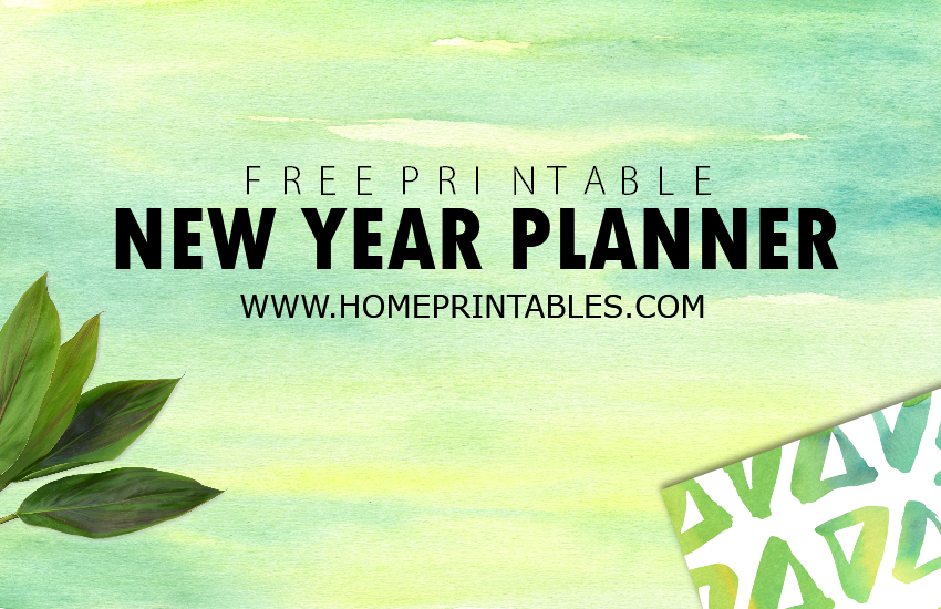 Free Printable New Year Planner!