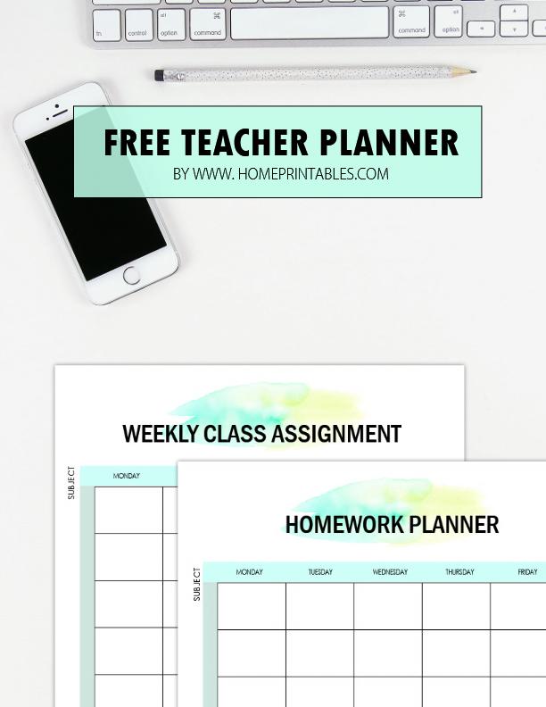 free teacher planner printables