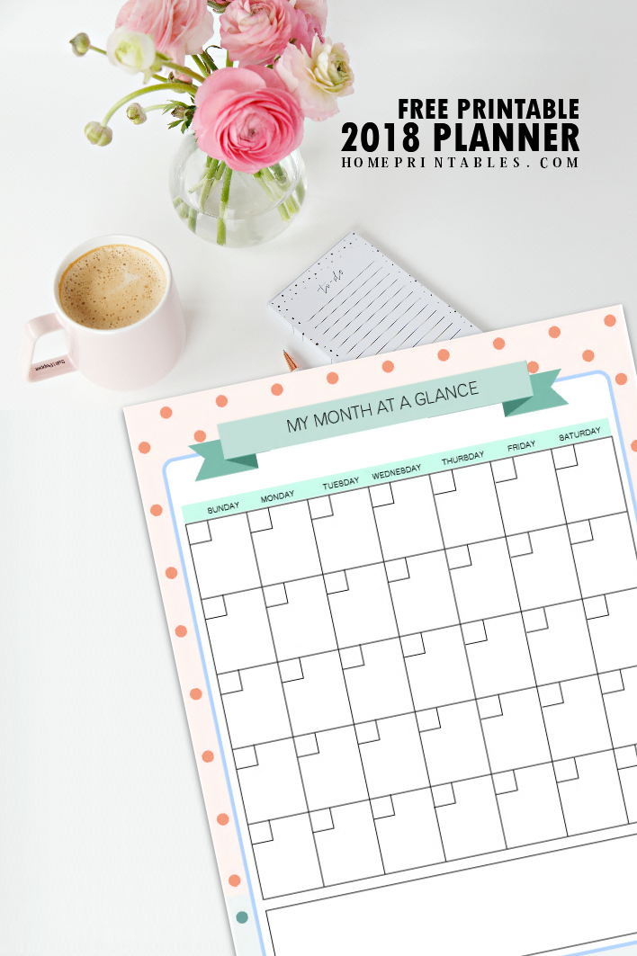 Sweet image in free printable organizer