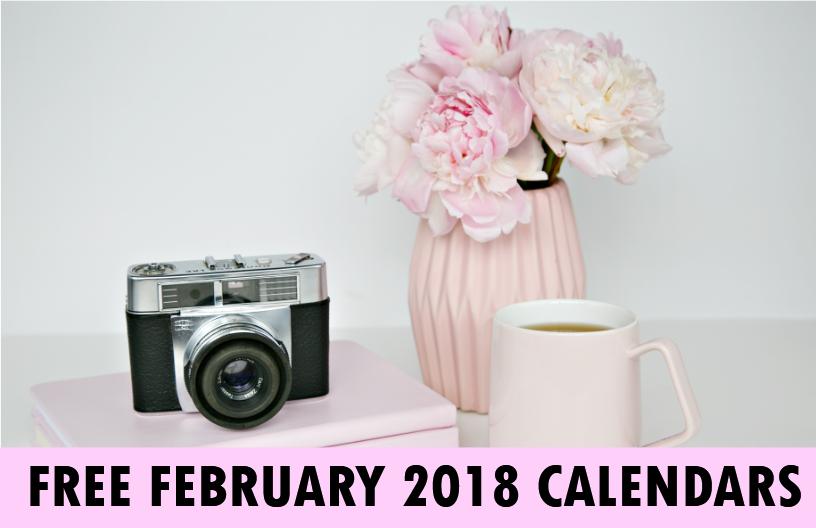 February 2018 calendar printables