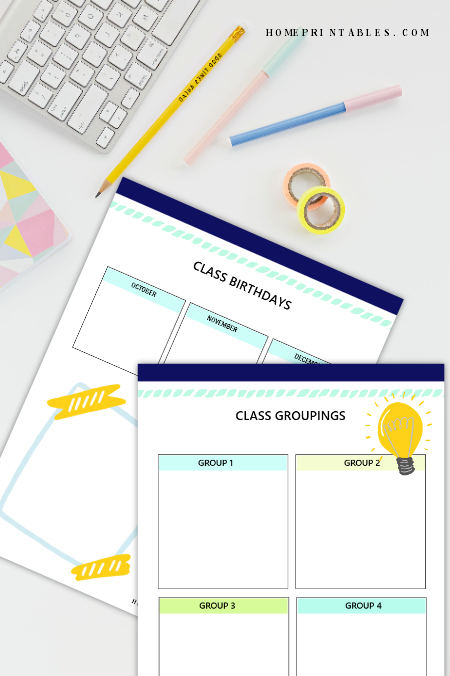 free printable teacher planner