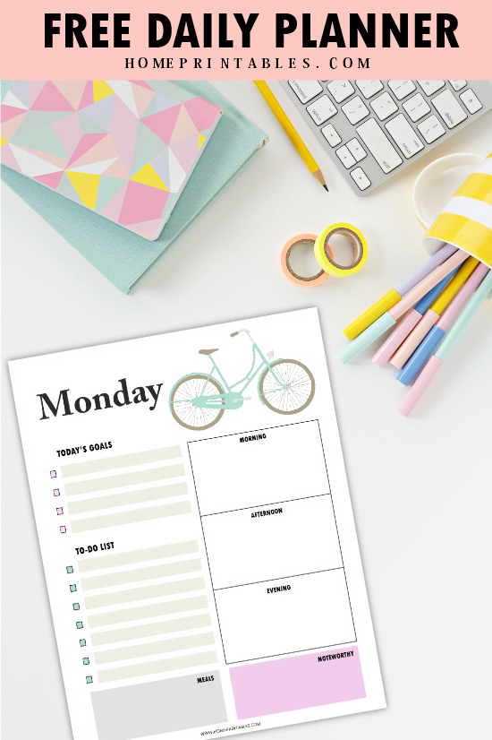 daily planner printables