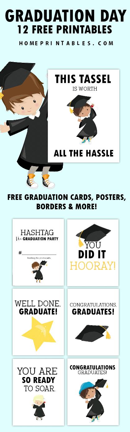 Free Graduation Templates 12 Graduation Printables Cards And Borders
