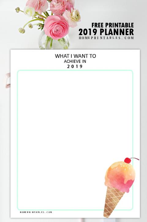goal-setting 2019 printable
