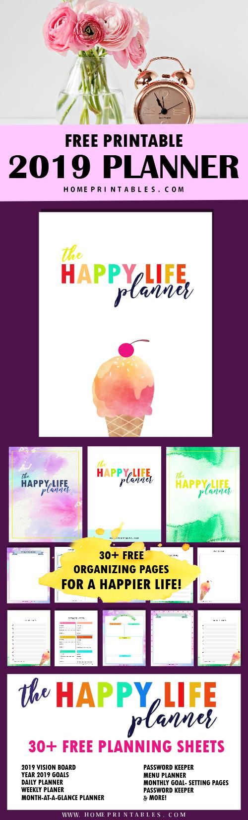 free planner 2019 printable
