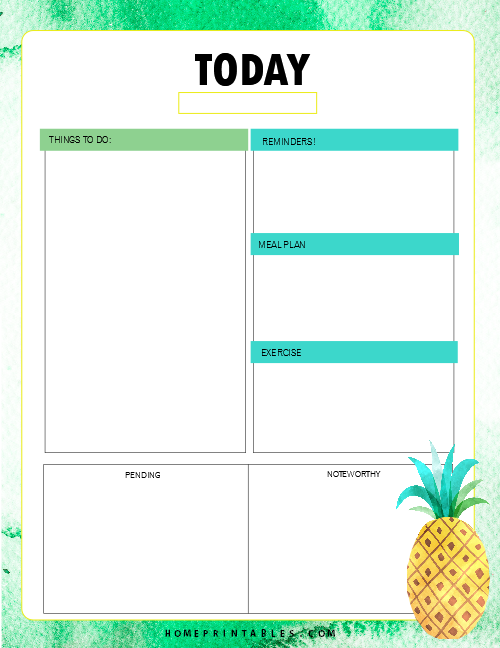 daily planner 2019