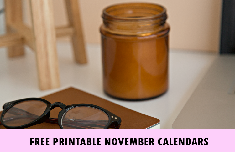 November 2018 calendar printable