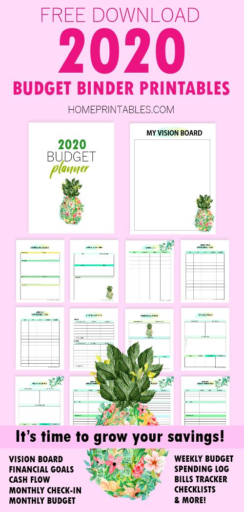 Budget Binder 2020 Free Printables